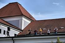Kapela Nepresso  koncertovala z vltavotýnské Sokolovny