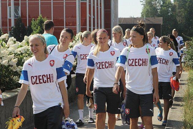 Česká ženská fotbalová reprezentace trénuje v Třeboni