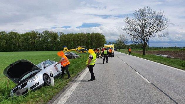 Sobotní hromadná nehoda uČejkovic.