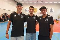 Na snímku (zleva) Marek Zmrhal, Ondřej Piskáček a Petr Michálek.