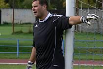 Roman Pospíšil byl v derby s Olešníkem velkou oporou Dřítně. Vychytal čisté konto.