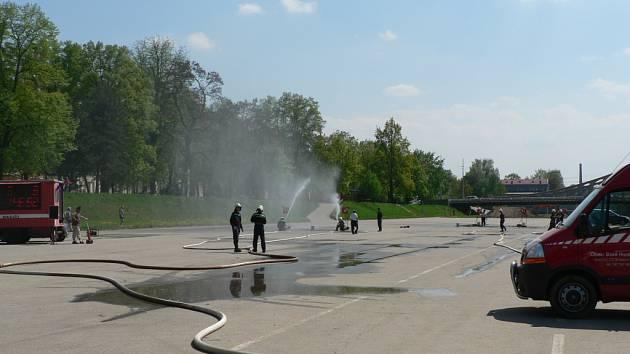 Českobudějovická náplavka občas slouží různým akcím.