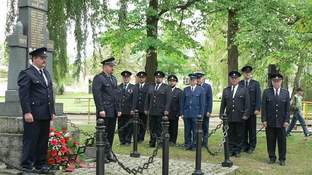 Památku kolegů si v sobotu při výročí  hasičského sboru připomněli v Žabovřeskách.
