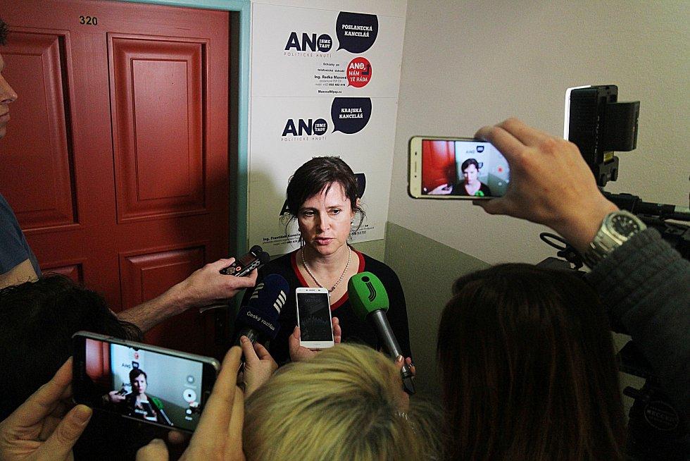 Na snímku krajská předsedkyně hnutí ANO Radka Maxová.