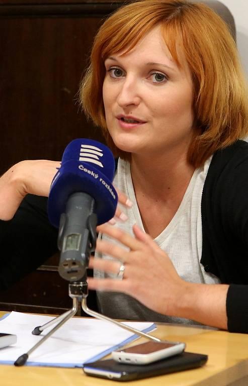 Tisková konference, kterou Jihočeské pořádalo k nové sezoně 2015 - 2016. Na snímku tajemnice baletu Jana Prašničková.