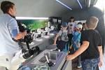 Mobilní vědecká laboratoř na Sokolském ostrově.
