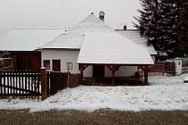 Nové Hrady v zimě. Historická kovárna.