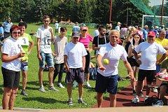 Páté Sportovní hry seniorů přilákaly v úterý do krajského města 20 čtyřčlenných týmů nad 60 let. Soutěžící se pobavili při zdolávání 10 disciplín.
