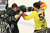 Vítězná bitka Martina Beránka (ve žlutém) se vsetínským Michalem Hryciowem.