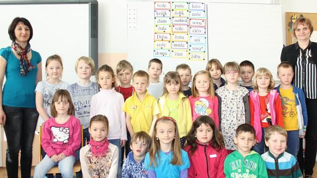 Žáci 1. C ze ZŠ a MŠ Nerudova v Českých Budějovicích.