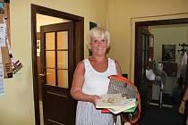 Dary do Kabelkového veletrhu přinesla i Milena Příhodová.