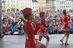 Mezinárodní gymnastické soutěže Eurogym začne v Českých Budějovicích přesně za 101 dní. Na snímku spolek Hlubocké princezny.