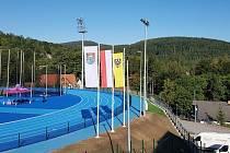 Stadion pro juniorské utkání.