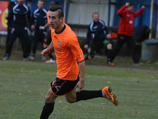 OPORA. Michal Repa patřil na podzim v dresu Katovic k nejlepším fotbalistům.