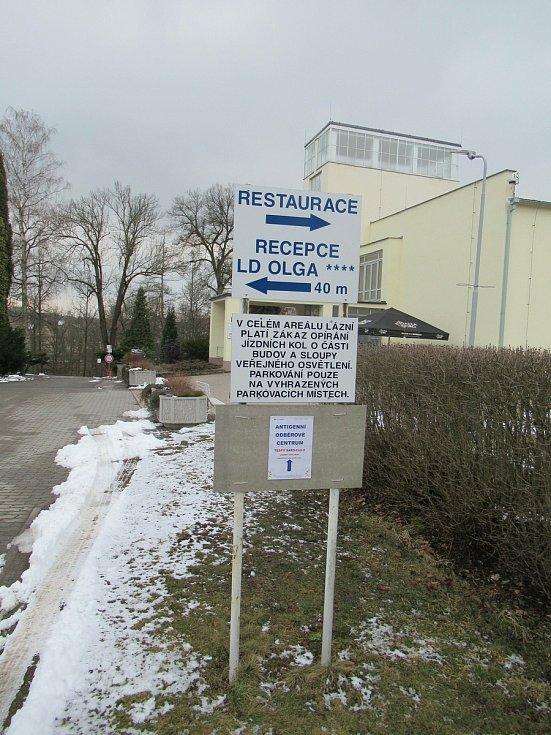 Testovací místo Lázně Bechyně.