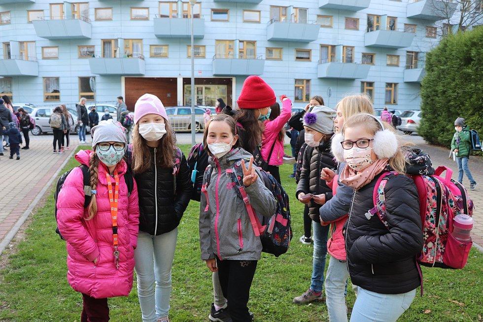 První školní den v ZŠ Nerudova v Českých Budějovicích