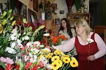 Květinářství Crazy flowers v Jírovcově ulici v Českých Budějovicích květiny i rozváží na přání.
