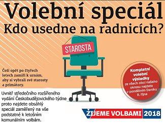 Volební Českobudějovický týden koupíte jako přílohu středečního Deníku nebo od čtvrtka samostatně s vloženým TV magazínem.
