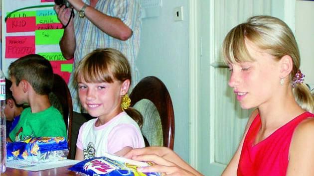 Děti z Běloruska, které přijely na prázdniny do Českých Budějovic.