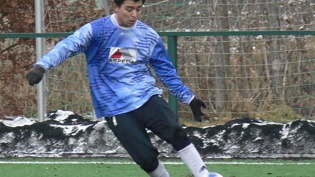 Petr Le je ve dvaceti letech střeleckou oporou fotbalistů SK Rudolfov v I. A třídě.