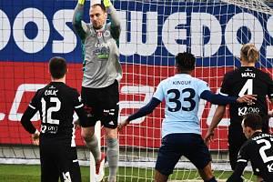 Jaroslav Drobný zasahuje před příbramským Kinguem: v prvním zápase Dynamo s Příbramí vyhrálo doma 2:1, jak dopadne sobotní odveta v Příbrami?