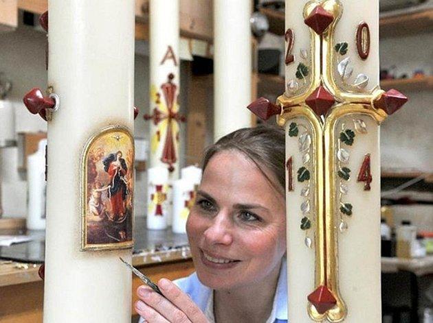 Velikonoční svíce pro papeže.