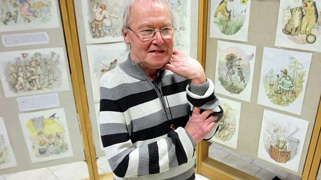 Vladimír Janda (66) představuje své celoživotní dílo do konce března v Jihočeské vědecké knihovně.