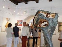 Vltavotýnské výtvarné dvorky 2014. Vernisáž se uskutečnila 28. června, výstava trvá do 24. srpna.