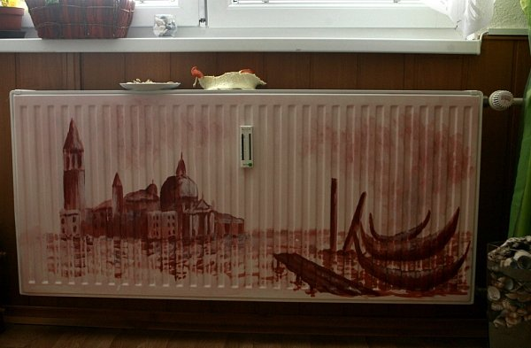 Josef Balek má vobýváku pomalované itopení, zvěčnil na něj Benátky.