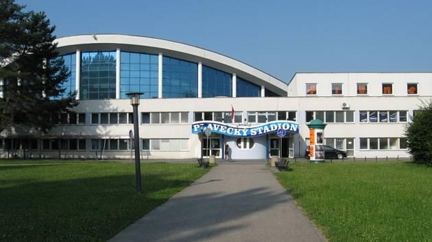 Plavecký stadion v Českých Budějovicích.