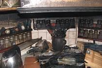 Ohnisko požáru v panelovém domě J. Bendy.