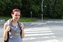 Problémový přechod v Týně nad Vltavou.