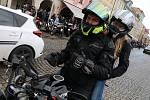 Tradiční setkání motorkářů na českobudějovickém náměstí