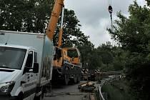 Kvůli havarijní situaci je třeba neplánovaně uzavřít silnici přes opravovaný most u Netřebic.