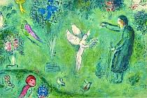 Chagallův obraz u sousedů.