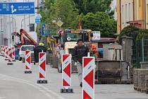 Rekonstrukce Mánesovy ulice v Českých Budějovicích.