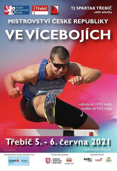 Plakát mistrovství vícebojařů.