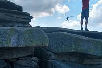 Záchrana zraněného německého turisty