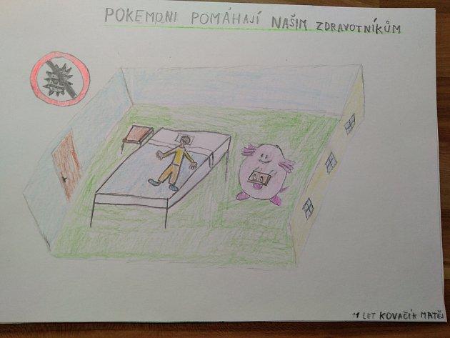 Obrázky nakreslil Matěj Kovačík 11let a Lenka Kovačíková 8let.