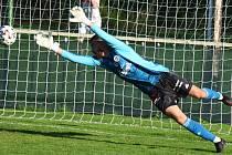 Dávid Šípoš při svém debutu v české lize byl na Spartě velkou oporou Dynama.