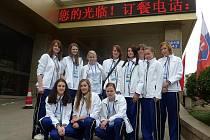 Strakonické gymnazistky na mistrovství světa  v Číně