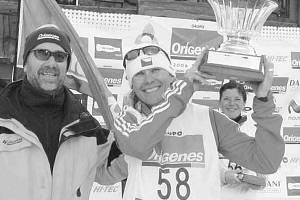 Šárka Grabmül〜lerová z B&H triatlon Č. Budějovice přivezla z Francie stříbro.
