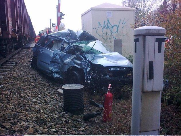 Osobní automobil těsně po nehodě.
