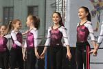 Mezinárodní gymnastické soutěže Eurogym začne v Českých Budějovicích přesně za 101 dní. Na snímku gymnastky z Gymcentrum Merkur