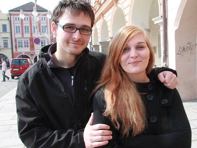Organizátoři Odpadfestu Jiří Vrba a Tereza Schambergerová.