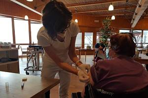 Domov seniorů Mistra Křišťana Prachatice. Ve čtvrtek 7. ledna byla v Jihočeském kraji zahájeno plošné očkování seniorů a personálu v domovech.