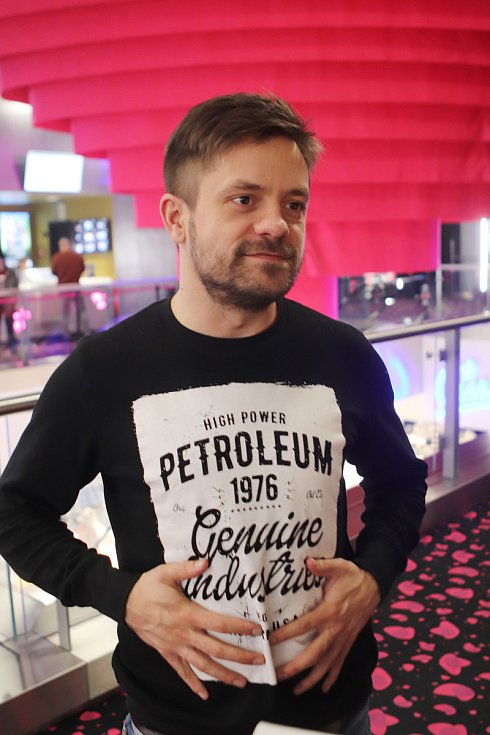 Předpremiéra filmu Modelář v kině CineStar v českobudějovickém IGY centru. Jednu z hlavních rolí ztvárnil Jiří Mádl.