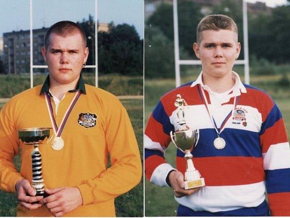 Zdeněk Bílský stýmem získal vroce 1994titul juniorského mistra České republiky (vlevo). Na snímku vpravo zroku 1993strofejí mistra České republiky mezi kadety.
