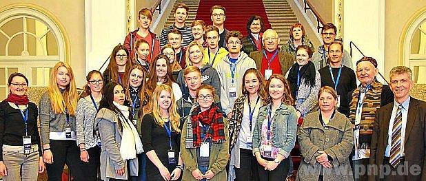 Čeští žáci vsídle bavorského sněmu.