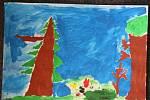 Žáci 2.A lišovské základní školy kreslili jaro. Na snímku obrázek Kryštofa Payera.